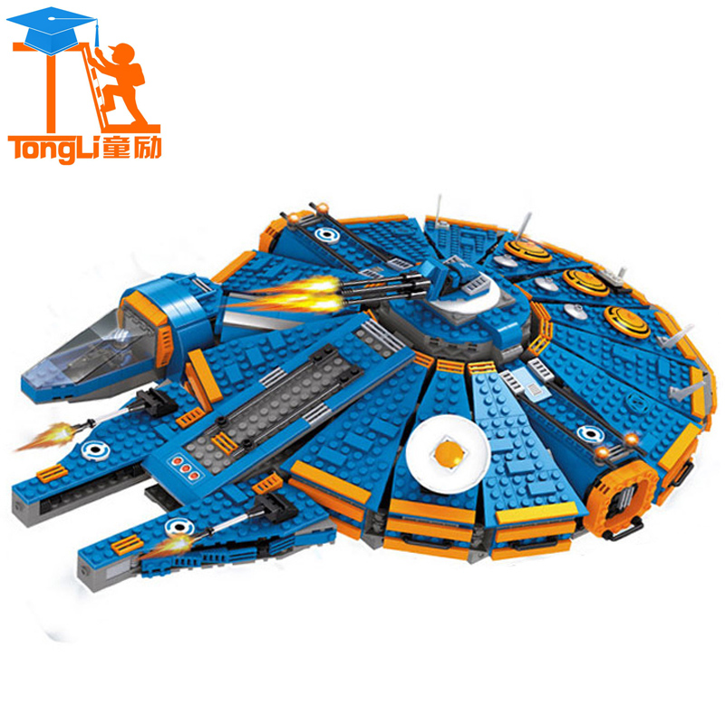 2017 Lepin 1566pcs Star War Block Millennium Falcon Outer Space Ship Building Blocks Model Toys Christmas Gift Toys for Children lepin 22001 pirate ship imperial warships model building block briks toys gift 1717pcs compatible legoed 10210