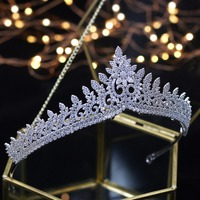Designer Wedding Tiaras 2018 Crystals Zircon Baroque Bridal Crowns Tocado Novia Bride Hair Jewelry Wedding Hair Accessories