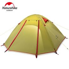Naturehike Tents Camping 2-4 person tent aluminum pole NH double layer Outdoor Hiking Fishing tourist tent waterproof