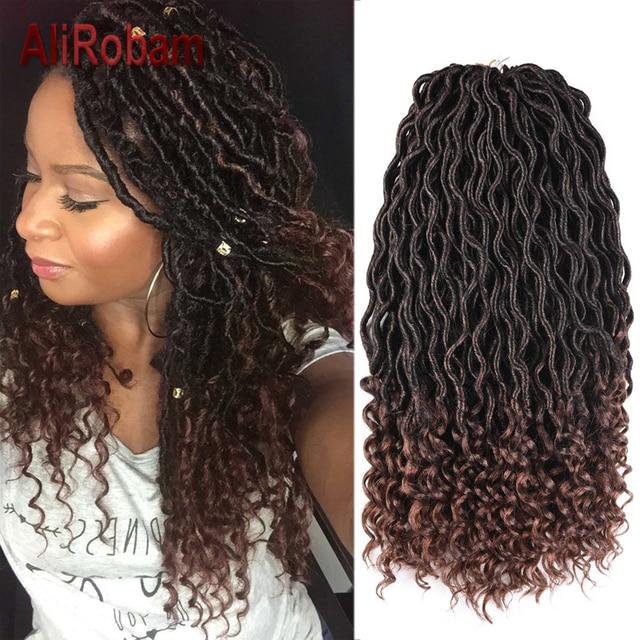 Alirobam Goddess Faux Locs Curly Crochet Hair 20inch Kanekalon