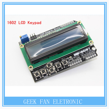 Free Shipping LCD Keypad Shield LCD1602 LCD 1602 Module Display ATMEGA328 ATMEGA2560 Raspberry pi UNO Blue Screen A303