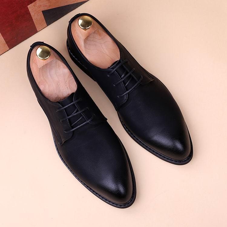 Rond Bureau Bout Porter Mode Errfc Pour Pied Arrivée Dentelle En Nouvelle De Up Loisirs Hommes Chaussures Noire D'affaires Robe Zapatos Noir Cuir Pu zq4czC