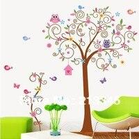 [Fundecor] grote dieren vlinder vogel scroll bloem boom muurstickers verwijderbare decals decor kids nursery 2 st combo