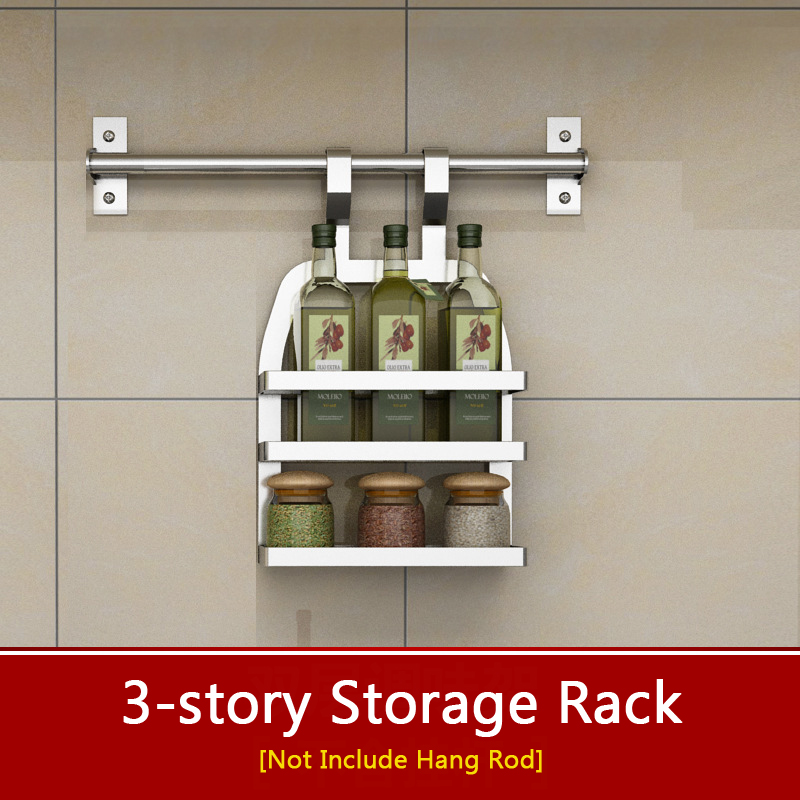 Stainless Steel Kitchen Storage Rack 3 Layers Seasoning