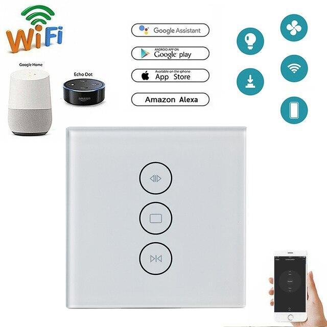تويا الذكية الحياة WiFi الستار التبديل للكهرباء ستارة مزودة بمحركات أعمى الأسطوانة مصراع ، جوجل المنزل ، الامازون اليكسا التحكم الصوتي