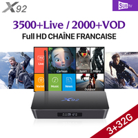 Octa Core X92 Android Smart TV Box 3g Ram TV Receivers H 265 Media Player Europe