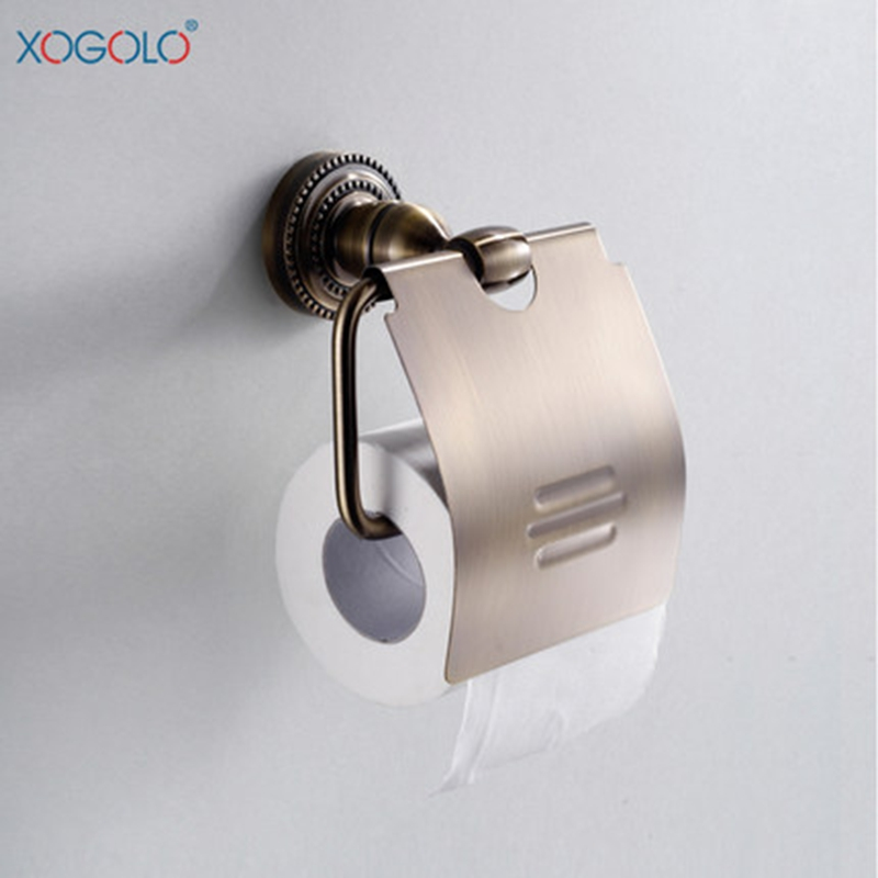 ФОТО Xogolo Antique Copper Toilet Paper Holder Retro Towel Paper Roll Holder Bronze Bathroom Accessories High Quality