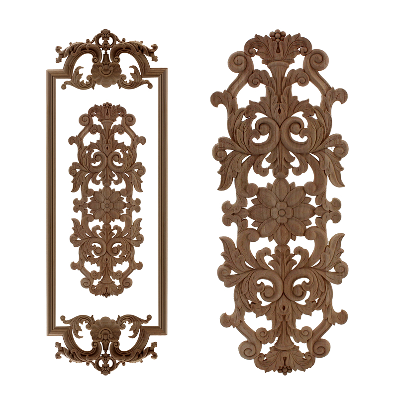 VZLX Antique Decorative Wood Appliques Furniture Cabinet  Natural Moldings Decals Flower Carving Figurines Wedding DecorationVZLX Antique Decorative Wood Appliques Furniture Cabinet  Natural Moldings Decals Flower Carving Figurines Wedding Decoration