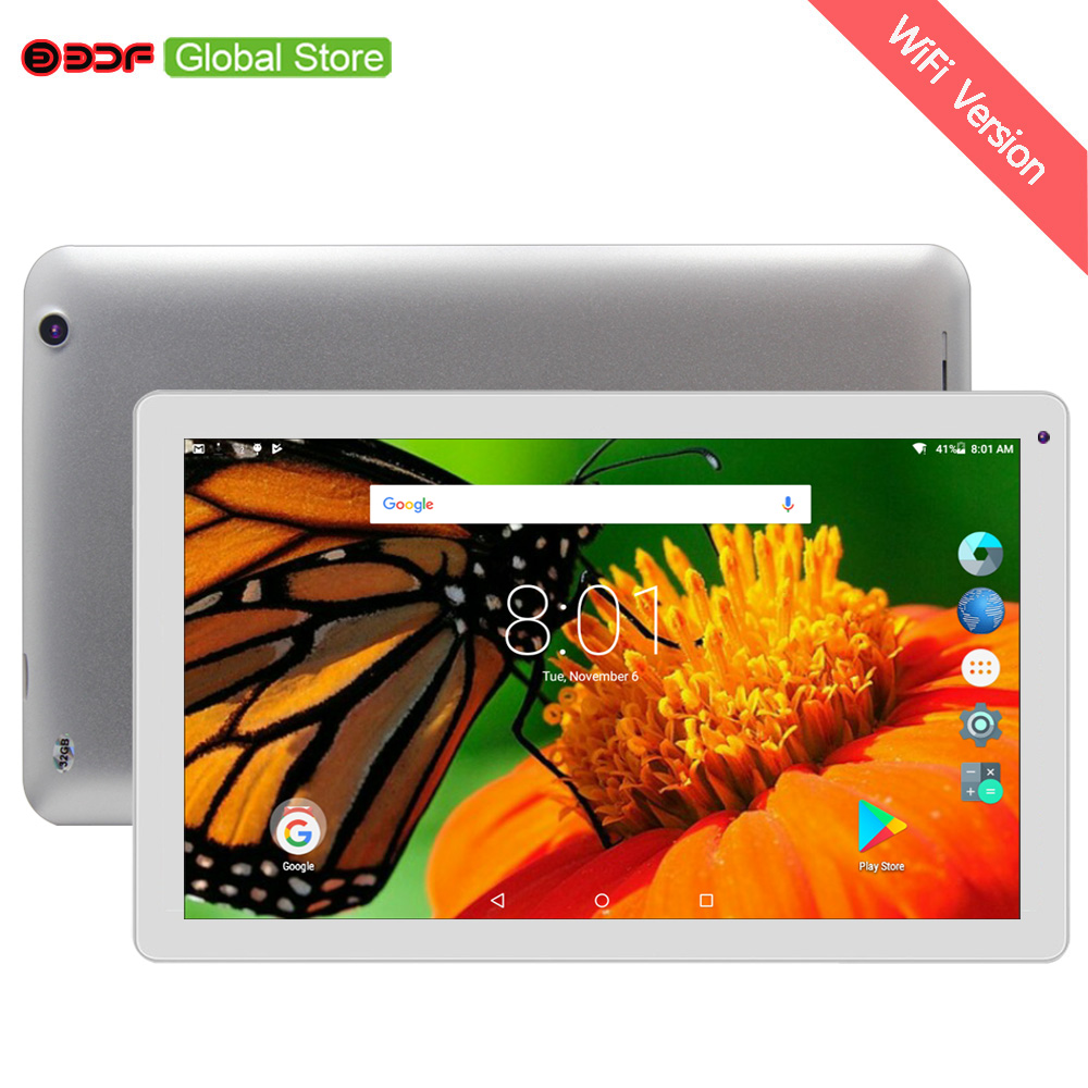 BDF 10.1 Inch Tablet Pc Android 1GB RAM 32GB ROM Tablets Pc Quad Core Dual Camera Android 5.1 Google Play Store WiFi Tablets 10