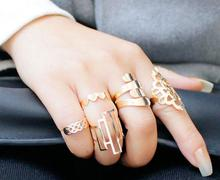 1set=6pieces Top New Fashion jewelry accessories lovely gold plated figure ring nice gift for women girl wholesale J-94