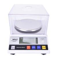 1pcs Precision Laboratory analytical balance 2000g x 0.01g Jewelry diamond gold weighing bench kitchen scale 7.5V 200MA