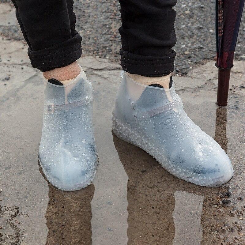 1 Pair Reusable Silicone Rain Boots Men Woman Kids Rainproof Overshoes Non-Slip Washable Waterproof Shoe Protectors Rain Boots