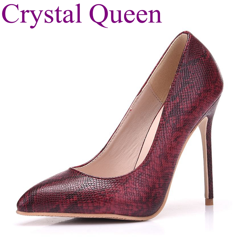 2016 Ankle Strap Women Pumps Beading Charm Pumps Red