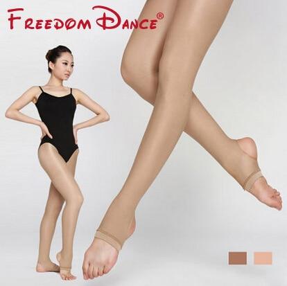 Donne di Ballo di Balletto Calzamaglie 40D Brillante Plasmare Collant Calzamaglie Calze e Autoreggenti 2018 di Sport di Forma Fisica di Ballo Pantaloni Stirrup Calzamaglie