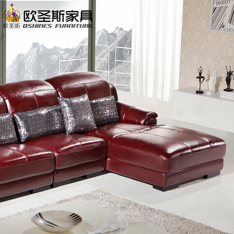 L Shape Sectional Modern Design Baroque Red Purple Leather Sofa Set,sofa  Set Purple Leather Sofa With Ajustable Headrest,OCS 631 In Living Room  Sofas From ...
