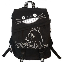 Cartoon Backpack TOTORO Women Schoolbags Bookbag Canvas Shoulders Anime Children Neighbor