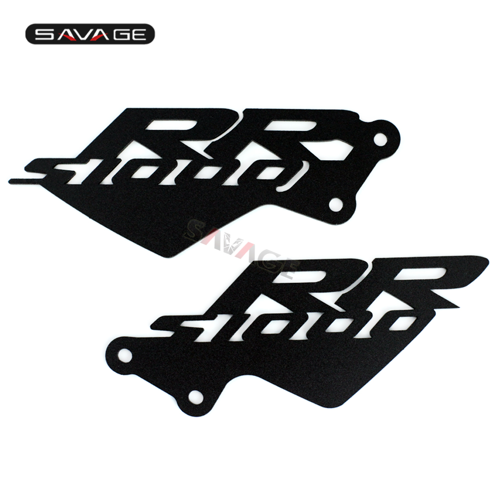 Front Foot Peg Heel Plates Guard Protector For <font><b>BMW</b></font> S1000RR <font><b>S</b></font> 1000RR <font><b>1000</b></font> <font><b>RR</b></font> 2010-2018 10 11 12 13 14 Motorcycle <font><b>Accessories</b></font> CNC image