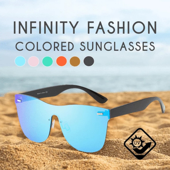 Infinity fashion colored sunglasses 1