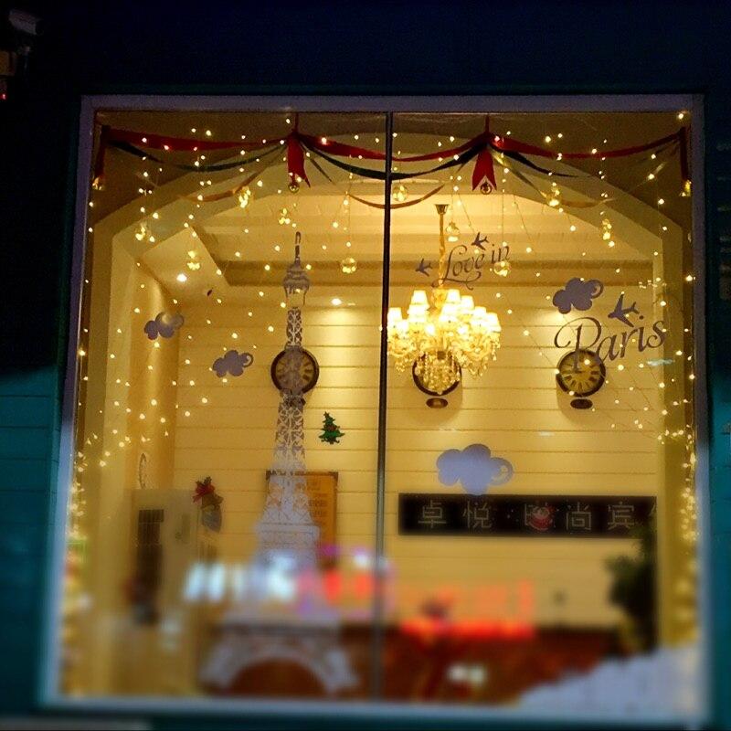 LED Navidad luces 3*3 M cortina led luces de Navidad iluminación
