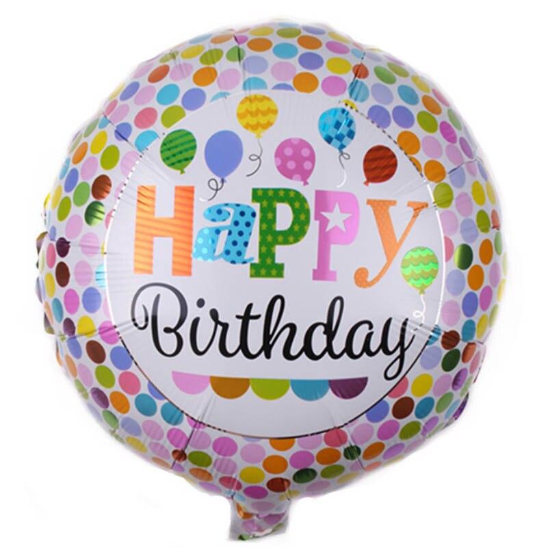 Nouveauté 18 pouces joyeux anniversaire ballons en aluminium, décoration d'anniversaire colorée enfants jouets 150 pcs/lot en gros-in Ballons et accessoires from Maison & Animalerie    3