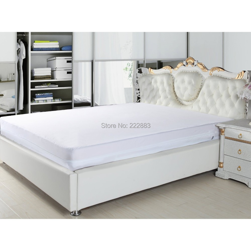 2018 Russian Size 160*200cm Zippered Smooth Waterproof Mattress Encasement Bed Bug Proof protect a bed Anti-mite and allergy