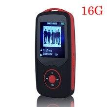2017 Original RUIZU X06 Bluetooth Deportes Reproductor de música MP3, 16G 1.8 Pulgadas de Pantalla 100 horas sin pérdidas de alta calidad Walkman grabadora de Red