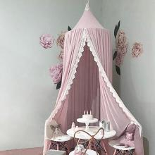 Hanging Baby Bed Canopy Mosquito Net Dome Dream Curtain Tent Baby Crib Netting Round Hung Kids Canopy Tent Children Room Decor купить недорого в Москве
