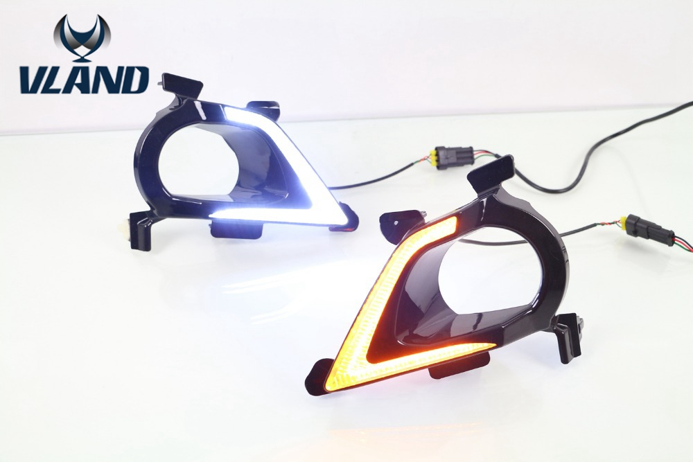 Free shipping vland factory for  Innova Daytime Running Light With Yellow Turning signal light 2015 2016 plug and play design yc folding mini rc drone fpv wifi 500w hd camera remote control kids toys quadcopter helicopter aircraft toy kid air plane gift