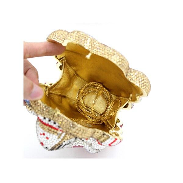 Donne 100% puro oro handmade Sacchetto di Sera di Cristallo regalo Di Natale borse box per le donne oro boxes per le signore borsa Banchetto borsaDonne 100% puro oro handmade Sacchetto di Sera di Cristallo regalo Di Natale borse box per le donne oro boxes per le signore borsa Banchetto borsa
