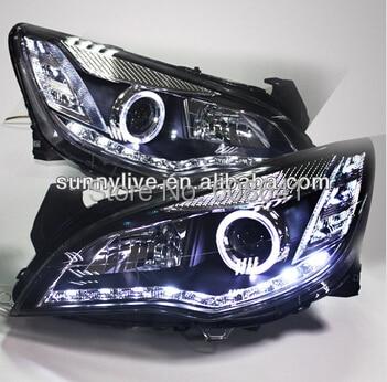 For Opel Astra LED Angel Eye Head Lamp 2010 - 2011 LD V1