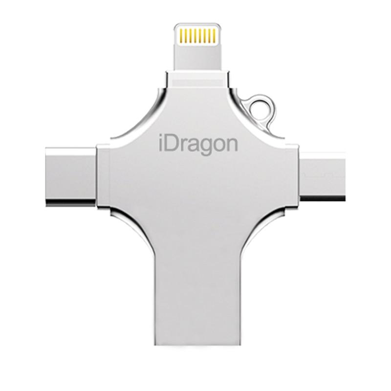 Ingelon 4in1 usb флеш-диск 16gb 32gb pendrive 128gb отг - Сыртқы жад - фото 3