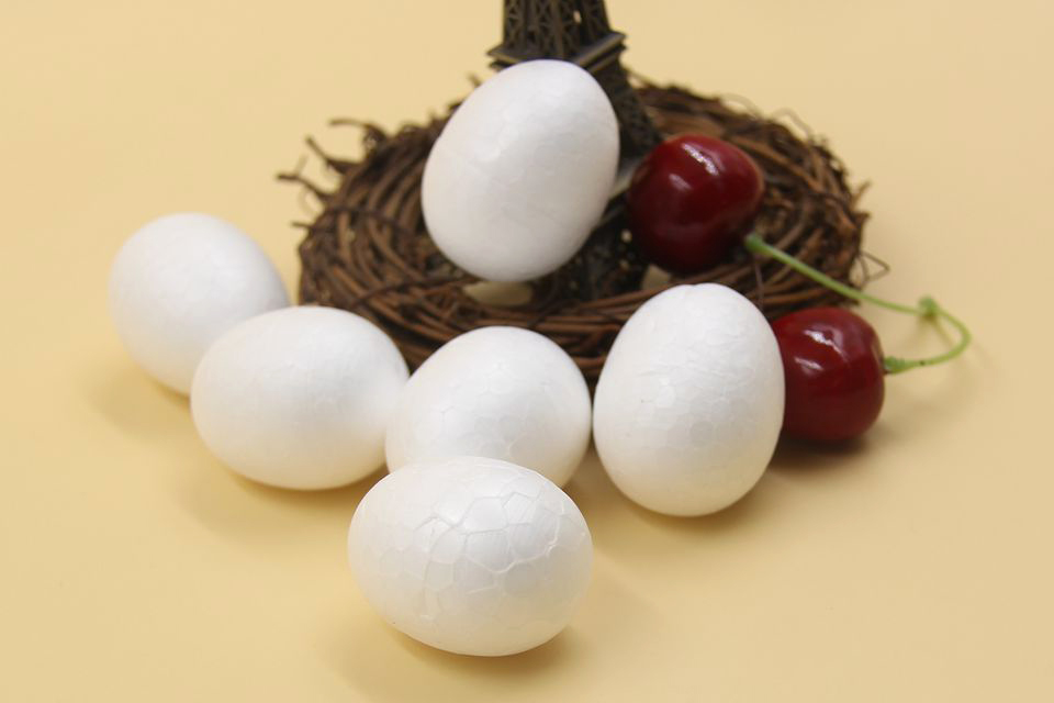 DIYHouse® 50PC//Lot 40MM DIY White Egg Modelling Polystyrene Styrofoam BallEaster