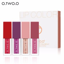 4pcs Sexy Nude Pigment Matte Lip Gloss Tattoo Makeup Long Lasting Velv