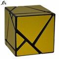 Fantasma 2x2x2 Cubo FangShi Preto Com Base de Prata, Dourado, Vermelho, Verde Adesivos 2*2*2 Cubo de Fidget Brinquedos Educativos Cubo Mágico