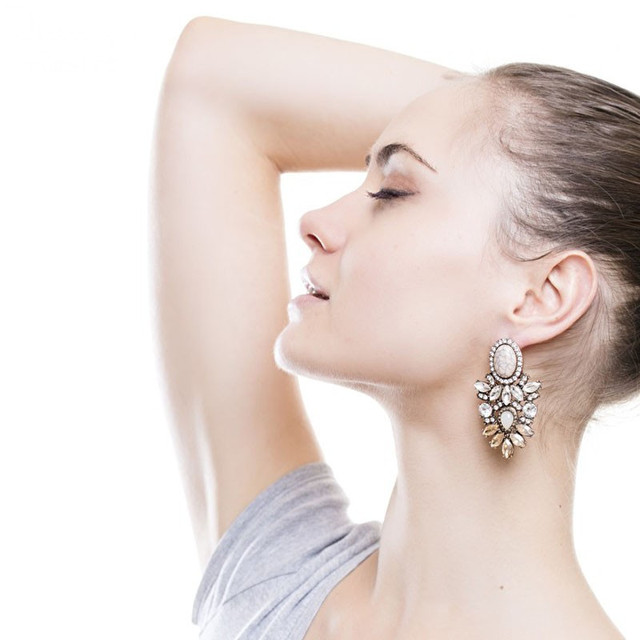 Big Crystal Statement Earrings