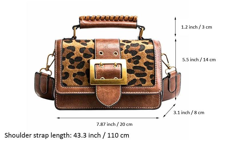 fcb502bb978 XMESSUN Vintage Leopard Bag Women Luxury Handbags Designer Leather Handbags  Purse Crossbody Messenger Bags Drop Shipping F83 #274791 Leather Purse ...