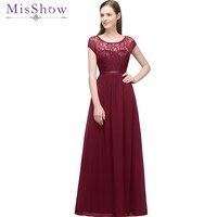 Cheap Under 35$ evening dresses long short 2019 Chiffon Lace Sleeveless Maxi Evening Gowns Women Party Dress Long Formal Dresses