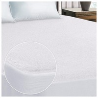 MITE FREE SIZE 90X190cm Waterproof Cotton Terry Fabric Mattress Protector Fitted Sheet Style and Waterproof Sheet Cotton