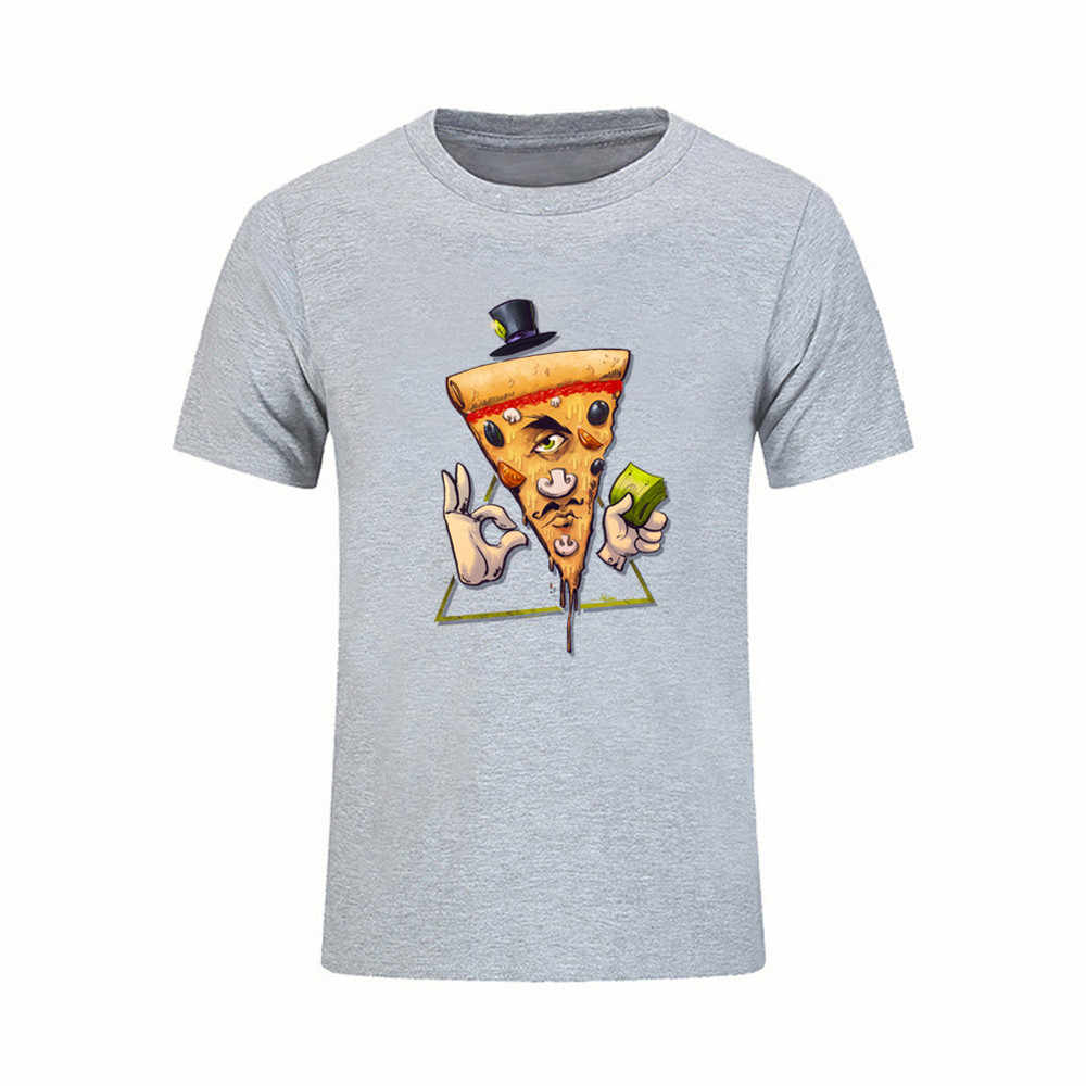 8a898774 Crew Neck Teenage Clothing Simple Style For Mens Illuminati Pizza T Shirts  Crew Neck Hot Sale