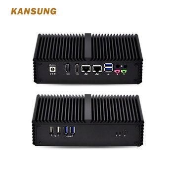 KANSUNG Core i3 4005U Intel Haswell Cheap Fanless Mini PC 2 Lan 2 HD 6 USB Industrial Single Board x86 Mini Computer Windows