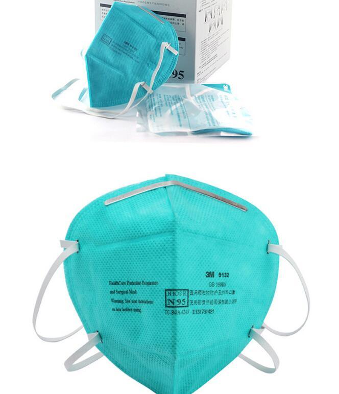 Hxy1-10 Genuine 3 m 9132 medico maschera protettiva anti influenza i batteri contro foschia pm 2.5 anti allergia ai pollini