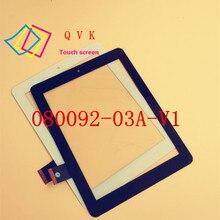 8 pulgadas negro tiene en la acción F0603X 080092-03A-V1 touch panel digitalizador del sensor de cristal de reemplazo de pantalla F0603 X