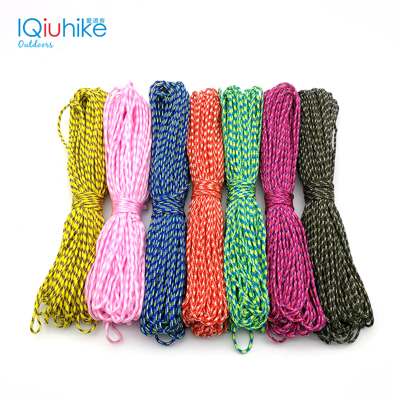 IQiuhike 50FT 100FT (31Meters) Dia. 2mm one stand Cores Paracord for Survival Parachute Cord Lanyard Camping Climbing Rope 100ft 550lb nylon paracord parachute cord string rope for camping hiking survival