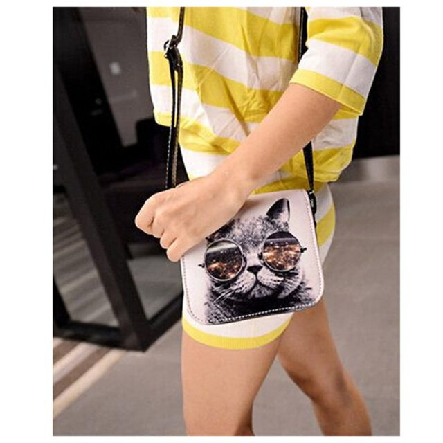 Cat With Big Glasses Handbag