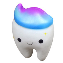 Squishy Teeth Cake Scented Squishy Slow Rising Squeeze Toys Jumbo Collection Stress Relief Reliever Squishy Toy cute simulation animal pu squishy slow rising simulation squeeze decompression kawaii unicorn squish toy stress reliever