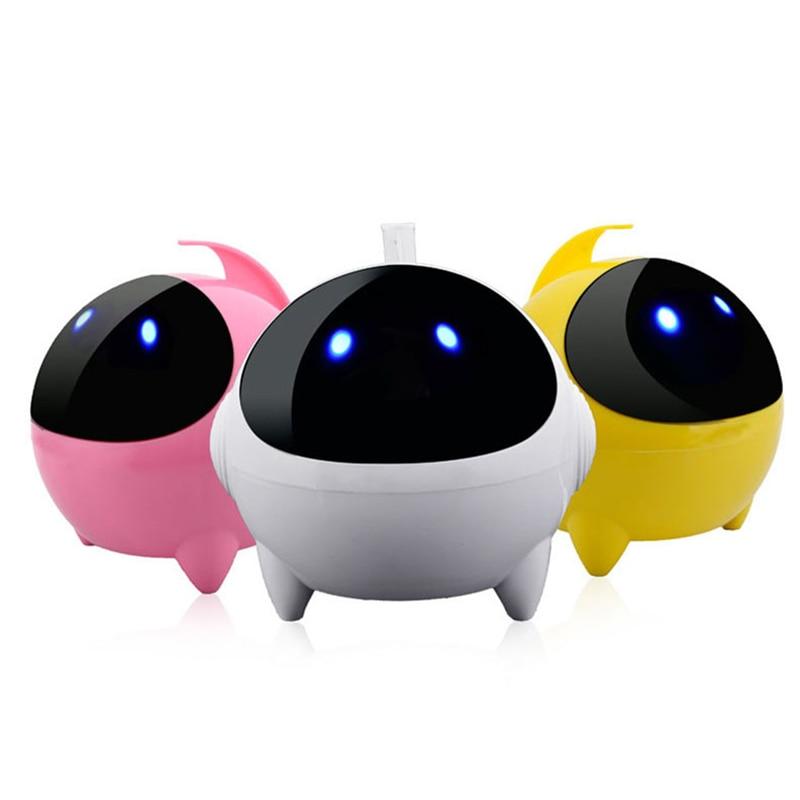 Mini Computer Speaker Portable Wire Cartoon Robot Speak Better Bass 24-Hour Playtime Stereo Music Loudspeakers Sound Range