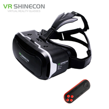 VR Shinecon 2.0 3D Glasses Virtual Reality Smartphone Headset Google Cardboard VR BOX Helmet for Iphone Android 4.7-6′ Phone