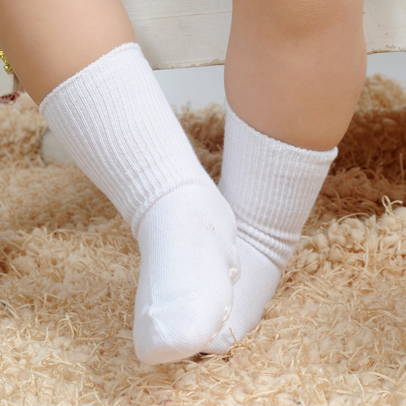 Kids Socks Baby Boys Socks 6Pair/Lot 100% Cotton White Socks Baby Girls Sock ...