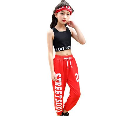 3c39e66cbd2f Detail Feedback Questions about Teenage Girl Summer Clothing Sets Jazz  Dance Costumes Children Hip Hop Clothes Girls Street Dance Outfits Kids  Sport Suits ...