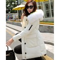 New 2016 Fashion Winter Jacket women Fur Hooded Wear Thicken Long Outerwears Women coats Down&Parkas Slim clothing  Plus size